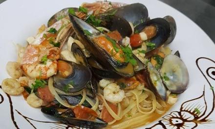 Menu di pesce con calice o bottiglia di vino per 2 persone allElite Ristorante   Pizzeria (sconto fino a 63%)