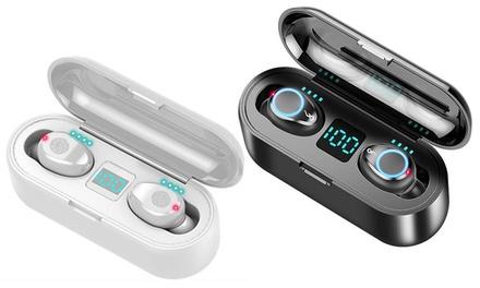 1 o 2 auricolari Bluetooth 5.0 con custodia di ricarica, disponibili in 2 colori
