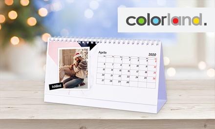 Fino a 10 calendari da tavolo personalizzabili offerti da Colorland(sconto fino a 85%)